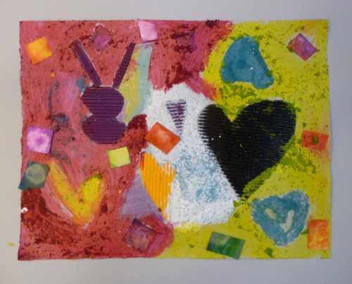 Peinture la mani re de braque for Braque peintre
