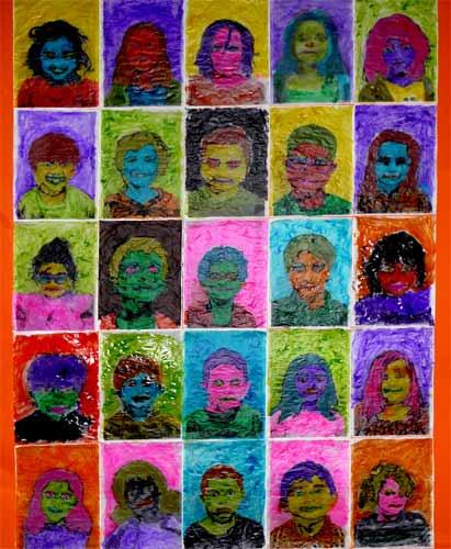 Peinture la mani re d 39 andy warhol - Papier peint andy warhol ...