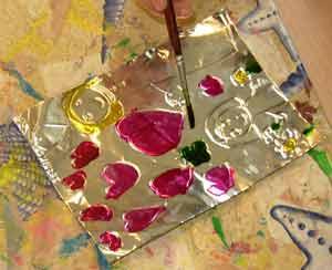 F te m res cadre avec peinture vitrail - Objet a fabriquer facilement ...