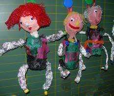 Marionnettes ecole maternelle - Fabriquer une marionnette articulee ...