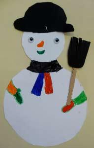 Bonhomme de neige maternelle - Guirlande papier bonhomme ...