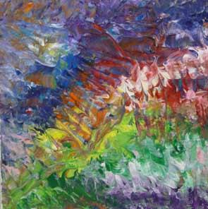Peinture abstraite au couteau for Art plastique peinture