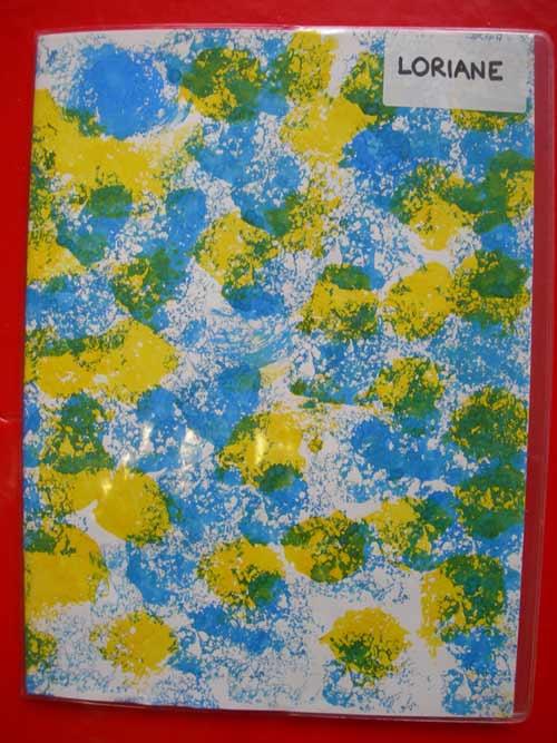Couverture de cahier for Technique de peinture murale a l eponge