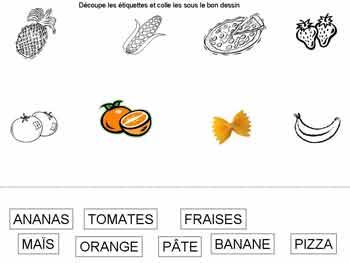 Alimentation fiches gratuites cole maternelle - Mot commencant par pr ...