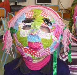 masque en papier maché