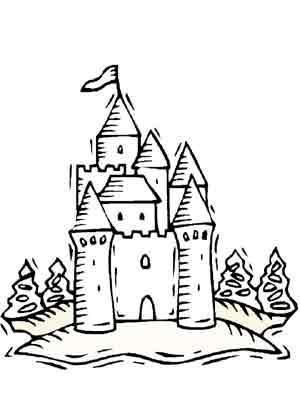 Coloriage Image Chateau.Coloriages Chateaux Ecole Maternelle