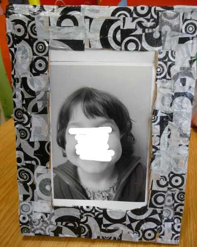 F te m res cole maternelle cadre - Fabriquer cadre photo carton ...