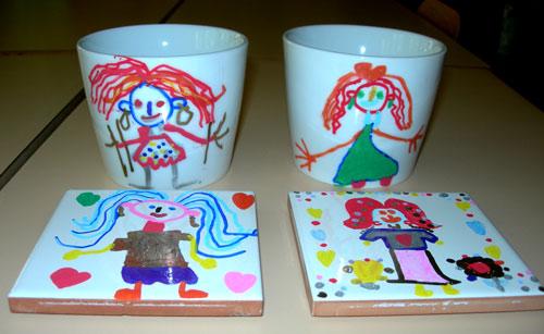 Fête Mères école Maternelle Céramiques