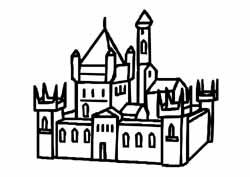 Coloriage Chateau Fort Gs.Moyen Age Couronnes Galette A L Ecole Maternelle