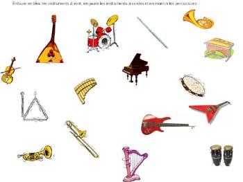 Instruments de musique - Image instrument de musique a colorier ...