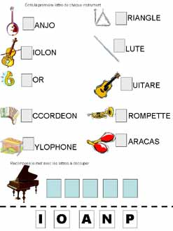 Musical Instruments Beginning With Letter G