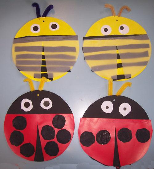 abeilles et coccinelles en mobiles. Black Bedroom Furniture Sets. Home Design Ideas