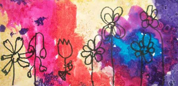 Fleurs Arts Visuels école Maternelle
