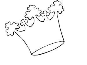 Coloriages rois couronnes galettes - Coloriage de galette ...
