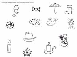 Fiches de lecture et phonologie maternelle consonne discrimination auditive - Mot commencant par pr ...