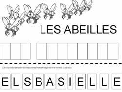 fiche pour remettre les lettres majuscules dans lordre pour former les mots les abeilles